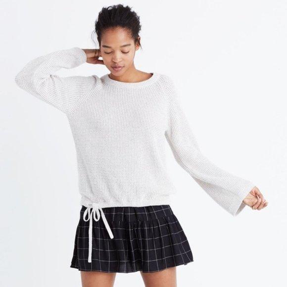 Madewell Wafflestitch Drawstring Sweater - Small